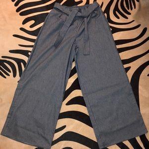 Wide Leg Blue Stripped Pants